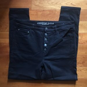 American Eagle Super High Rise Jegging Black